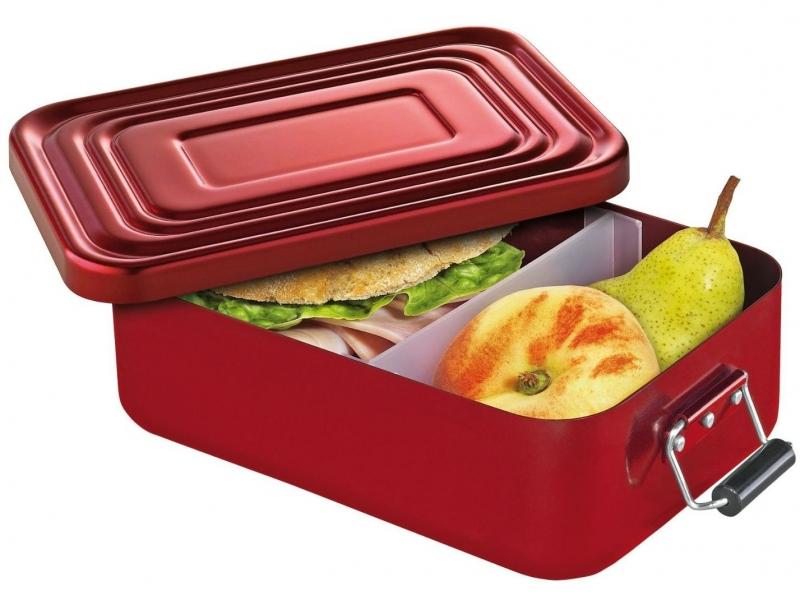 Küchenprofi hliníkový svačinový / obědový box 7 x 15 x 23 cm, - červený
