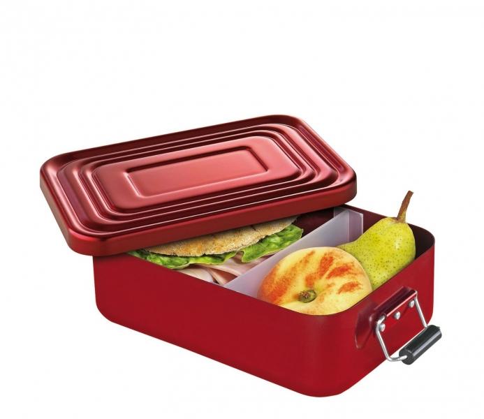 Küchenprofi hliníkový svačinový / obědový box 5 x 12 x 18 cm, - červený