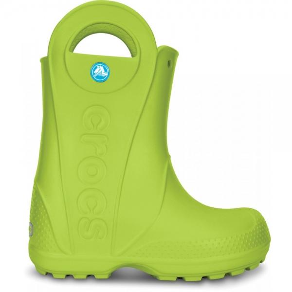 Crocs Handle It Rain Boot Kids - Volt Green, J2 (33-34)