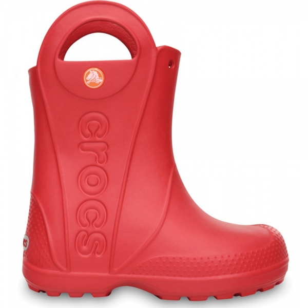 Crocs Handle It Rain Boot Kids - Red, C12 (29-30)