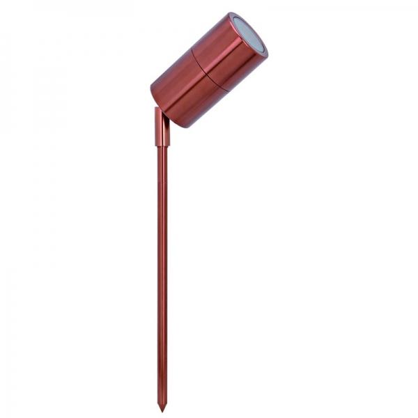 Svítildo Patio Corona s kolíkem do země, GU10, mahagonové