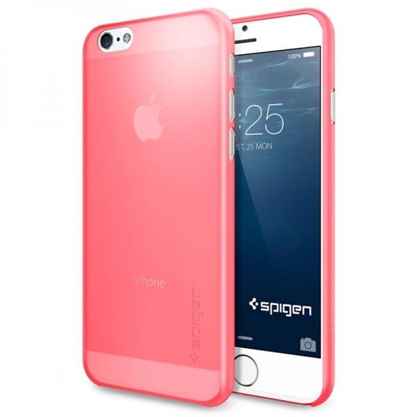 Zadní kryt Spigen Air Skin, azalea pink - iPhone 6 - azalea pink