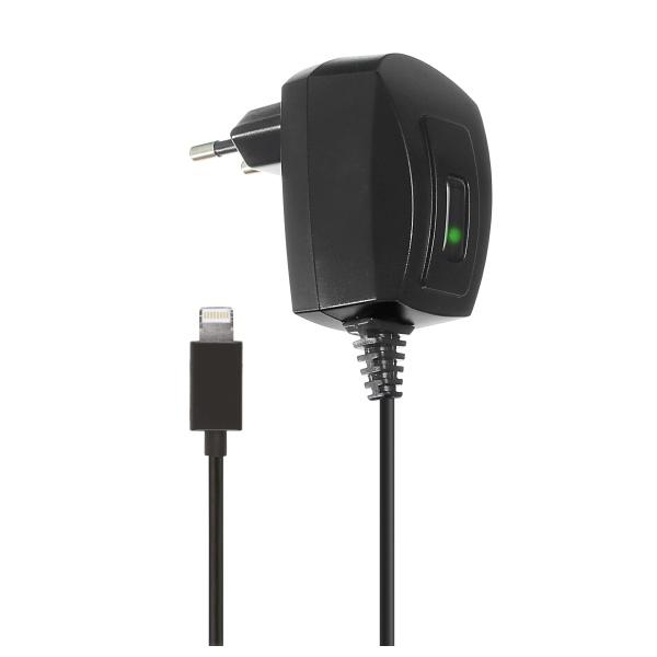 Cestovní nabíječka KIT s konektorem Apple Lightning, MFI, výstup 1A, černá EUMC1AMBK