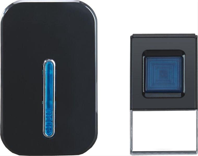 Solight bezdrátový zvonek, do zásuvky, 100m - Black