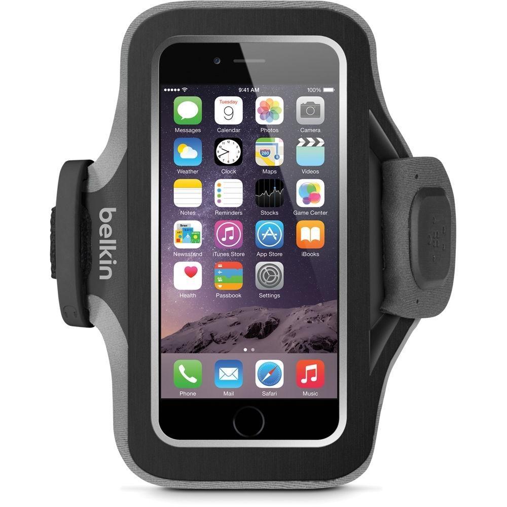 Sportovní pouzdro Belkin Slim-Fit Plus Armband pro Apple iPhone 6/6S - černé F8W499btC00
