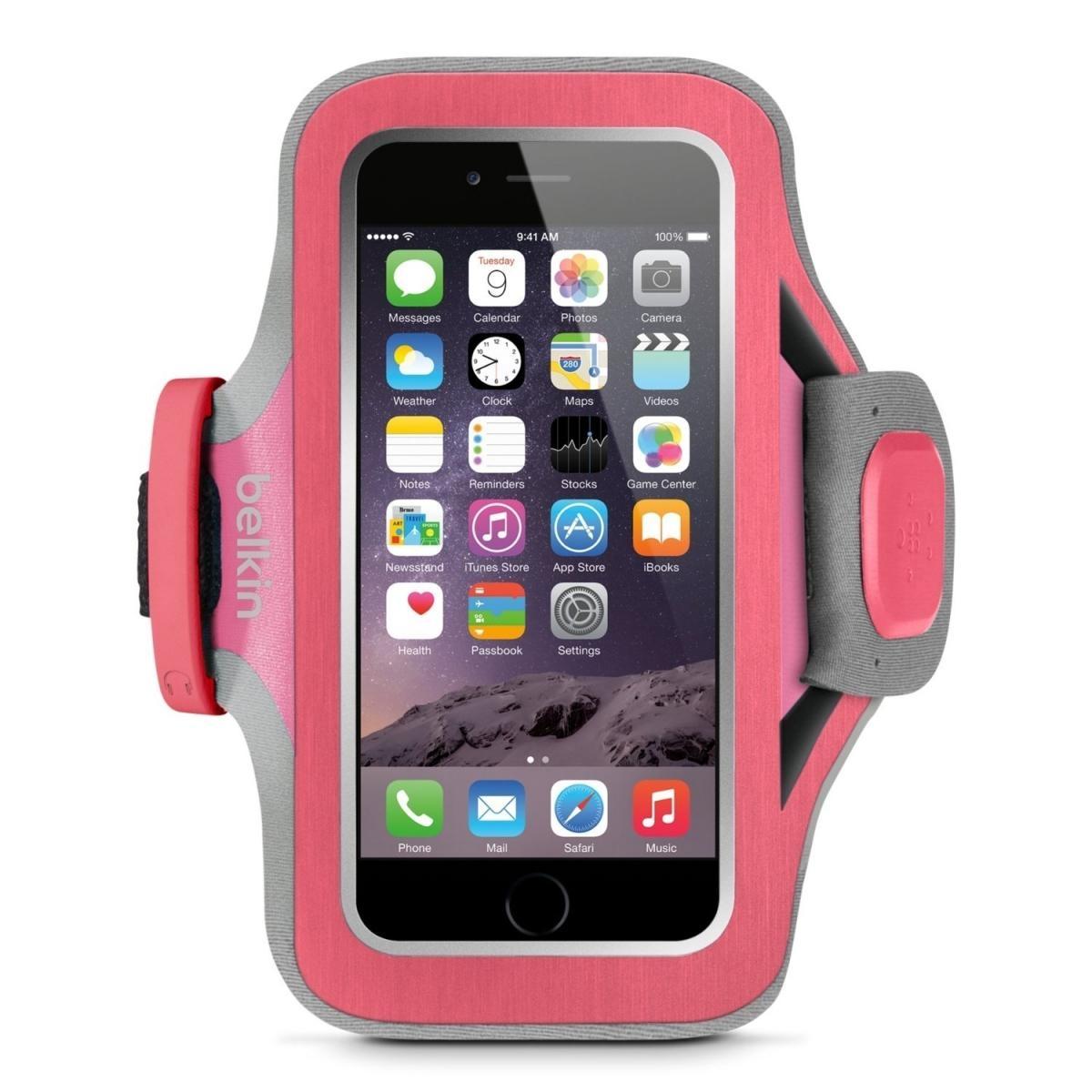 Sportovní pouzdro Belkin Slim-Fit Plus Armband pro Apple iPhone 6/6S - růžové F8W499btC01