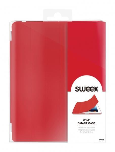 Pouzdro Sweex pro Apple iPad 2/ 3./ 4. generace, - červené