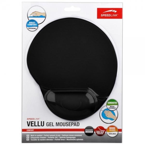 Podložka pod myš Vellu Gel Mousepad - Black SL-6211-SBK-01
