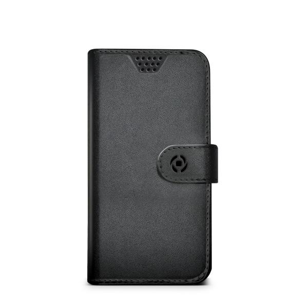 Pouzdro typu kniha Celly Wally Unica, velikost XL, - černé WALLYUNIXLBK