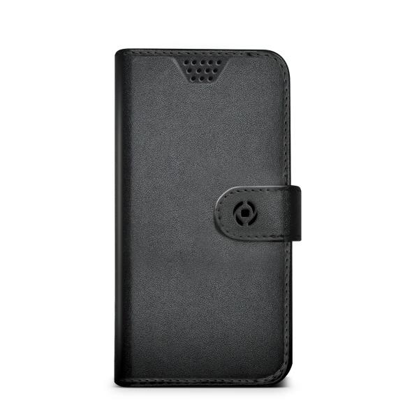 Pouzdro typu kniha Celly Wally Unica, velikost XXL - černé WALLYUNIXXLBK