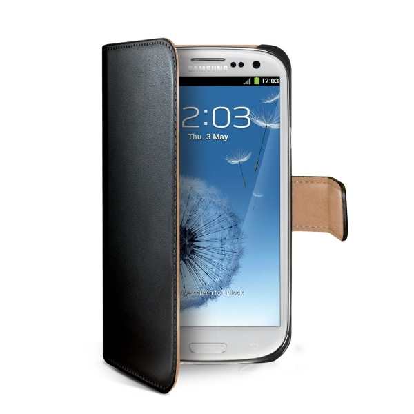 Pouzdro typu kniha Celly Wally pro Samsung Galaxy S3/ S3 Neo, černé WALLY232