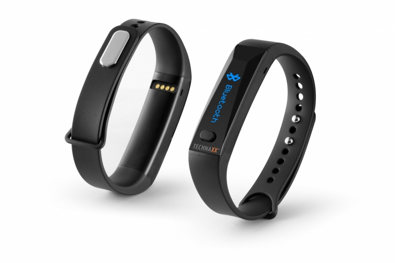 Technaxx fitness náramek ACTIVE, OLED, Bluetooth 4.0, Android/iOS, černý (TX-38) - černý 4446