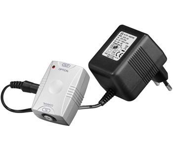 goobay Převodník z digitálního koaxiálního RCA signálu na optický digitální TOS(F)