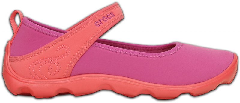 Crocs Duet Busy Day Mary Jane GS Vibrant Violet/Coral, J4 (36-37)