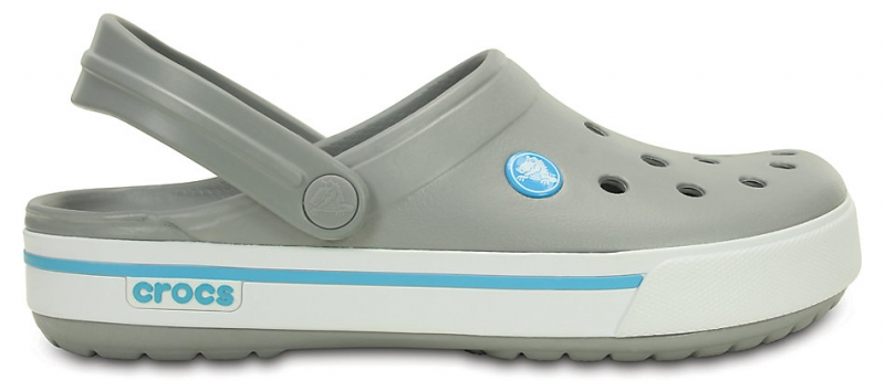 Crocs Crocband II.5 Light Grey/Electric Blue, M8/W10 (41-42)