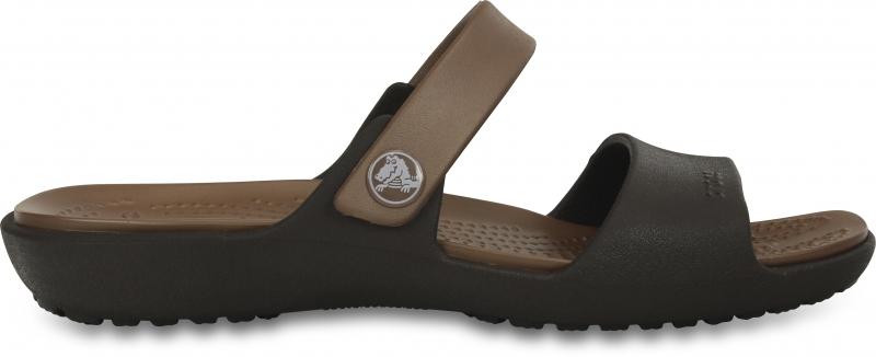 Crocs Coretta Sandal - Espresso/Bronze, W7 (37-38)