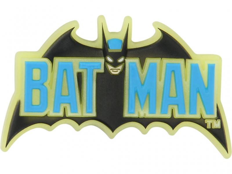 Crocs ozdoba Jibbitz Batman Logo GITD