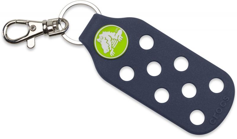 Crocs Keychain - Navy/Volt Green
