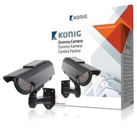 Atrapa CCTV kamery se solárním panelem a 30 IR LED (SAS-DUMMYCAM90)