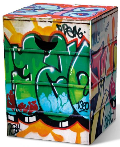 Remember skládací stůl / stolička Graffiti z tvrdého papíru