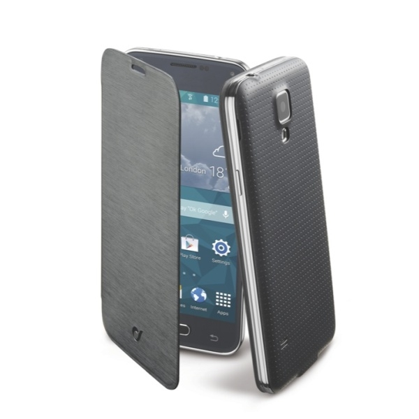 Pouzdro typu kniha CellularLine Backbook pro Samsung Galaxy S5 mini - černé BACKBOOKGALS5MIK