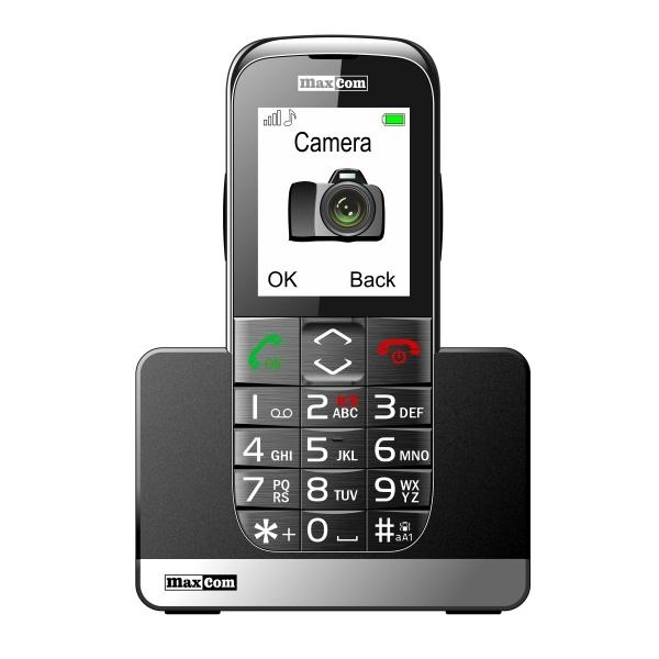 Mobilní telefon pro seniory MAXCOM MM720, stříbrný MM720