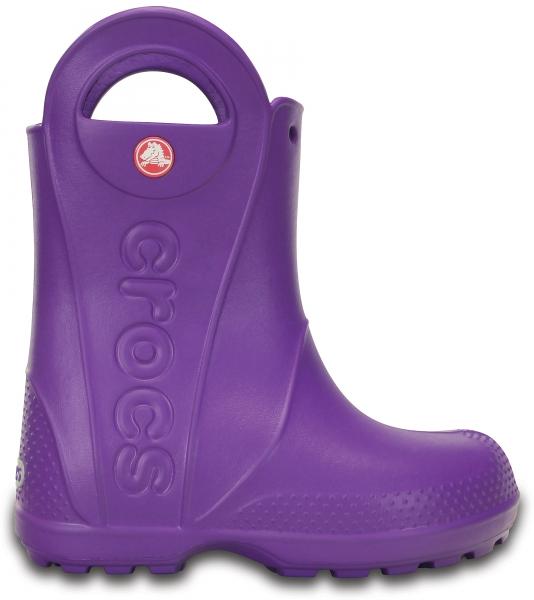 Crocs Handle It Rain Boot Kids - Neon Purple, C13 (30-31)