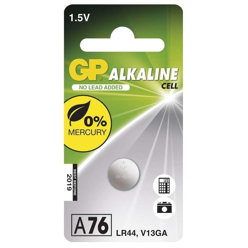 Knoflíkové baterie GP A76 1,5 V, 1 kus