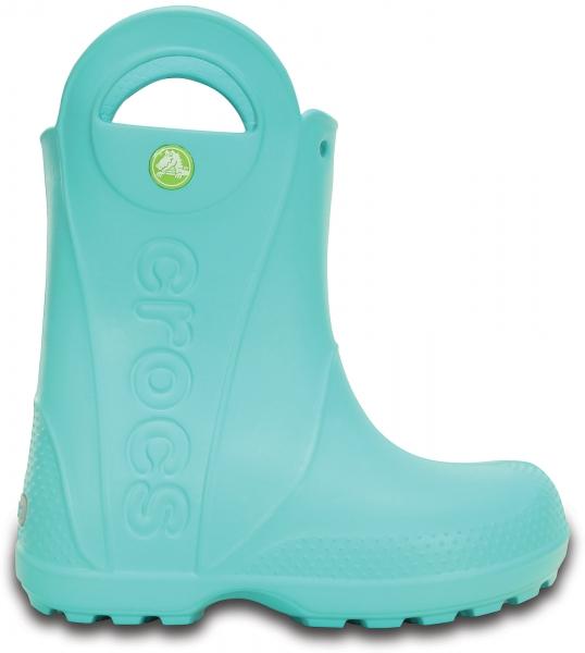 Crocs Handle It Rain Boot Kids - Pool, J1 (32-33)