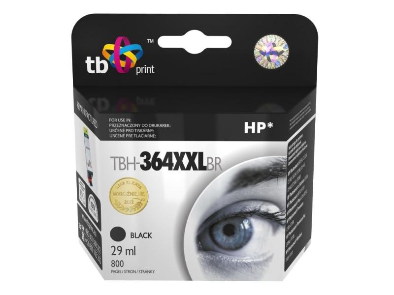 Černá inkoustová kazeta HP 364XL (HP364XL, HP-364XL, CB321EE), 29ml TB - Alternativní TBH-364XXLBR