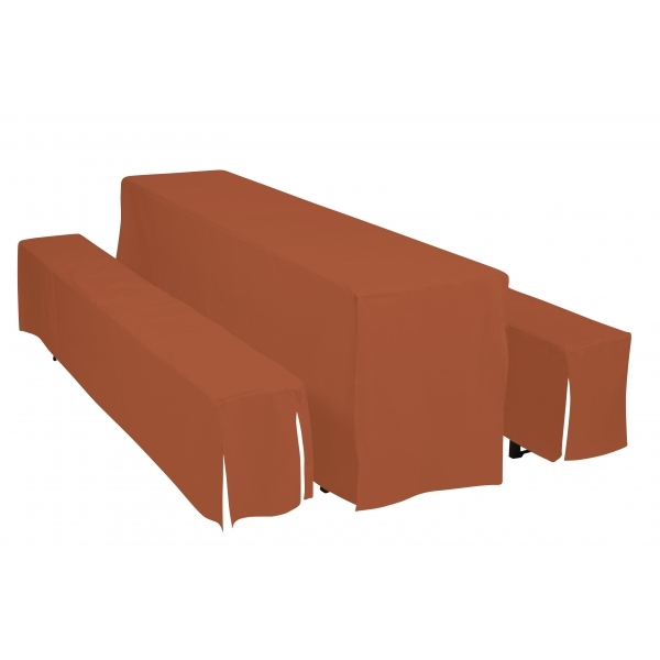 Potahy Doppler Hussen pro pivní soupravy, šířka stolu 50cm - Terakota