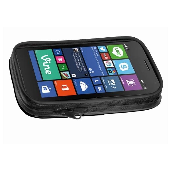 """Voděodolné pouzdro Interphone SM47 pro zařízení do 4.7"""", úchyt na řídítka, černé SMGPS47"""