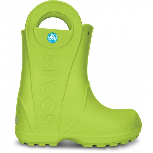 Crocs Handle It Rain Boot Kids - Volt Green, J1 (32-33)