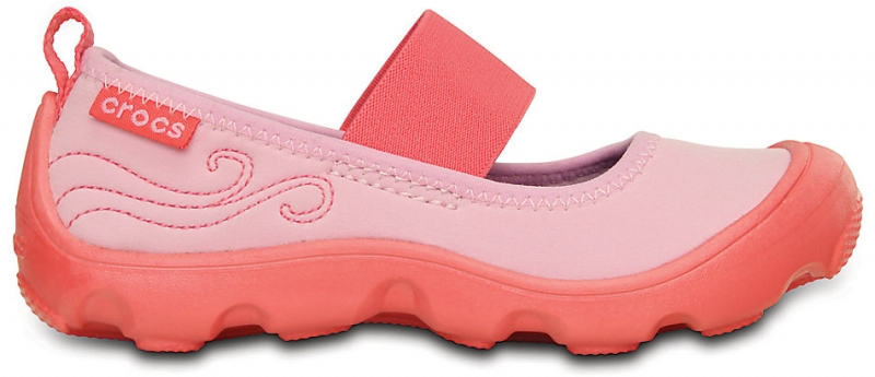Crocs Duet Busy Day Mary Jane PS Carnation/Coral, C8 (24-25)