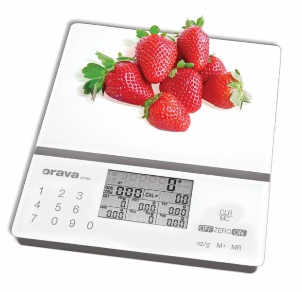 Orava EV-8 Digitální kuchyňská váha s nutriční kalkulačkou 8586006925636