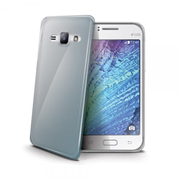 Silikonový obal Celly Gelskin pro Samsung Galaxy J1, bezbarvý GELSKIN501