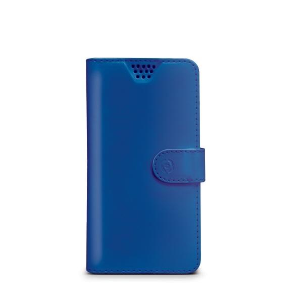 Pouzdro typu kniha Celly Wally Unica, velikost L - modré WALLYUNILBL