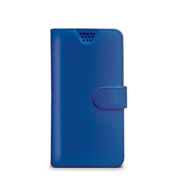 Pouzdro typu kniha Celly Wally Unica, velikost XL, - modré WALLYUNIXLBL