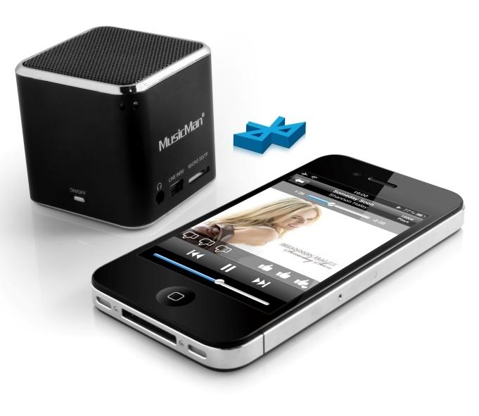 Technaxx přenosný Bluetooth reproduktor Mini MusicMan, baterie 600 mAh, černý (BTX2) 3807
