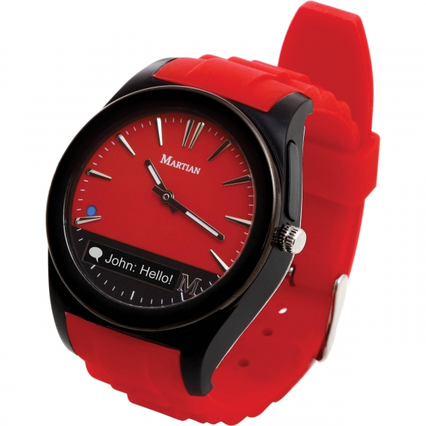 Chytré hodinky Martian Watches Notifier, červené MN200RBR