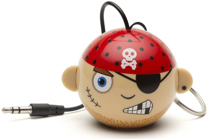 Reproduktor KITSOUND Mini Buddy Pirate, 3,5 mm jack, růžový KSNMBPIR