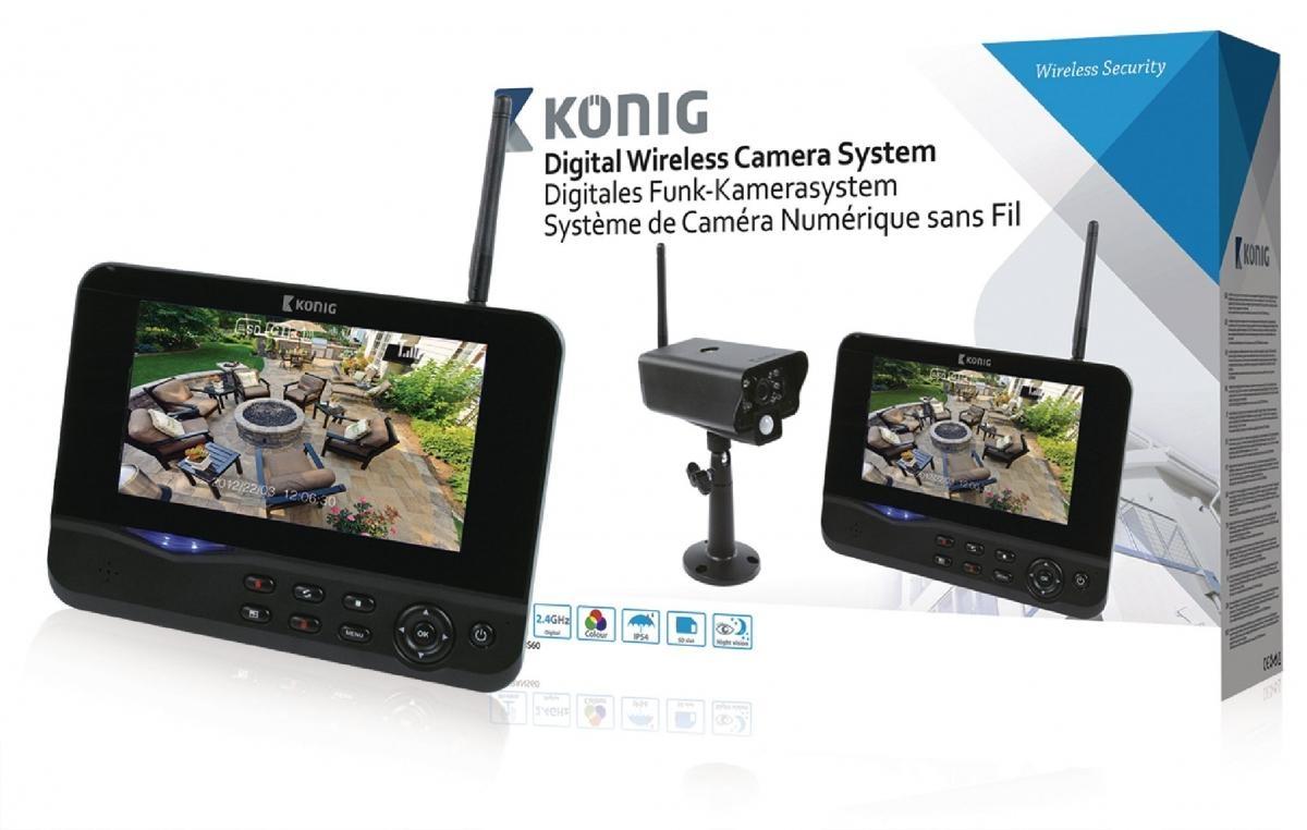 Digitální bezdrátový 2,4 GHz kamerový systém s monitorem o velikosti 17,8 cm (SAS-TRANS60)