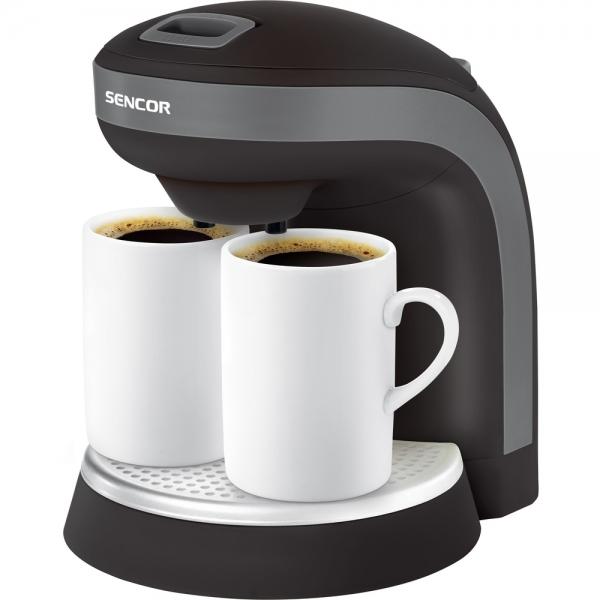 Kávovar SENCOR SCE 2000 + dva hrníčky - black
