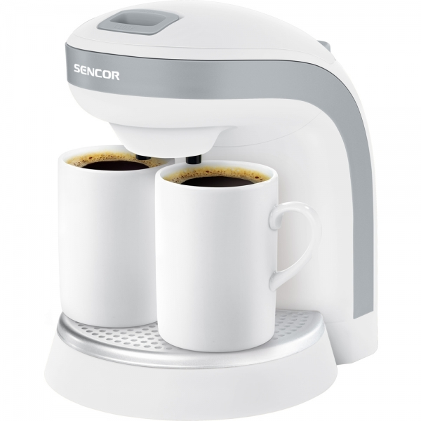 Kávovar SENCOR SCE 2001 + dva hrníčky white