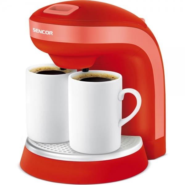 Kávovar SENCOR SCE 2003 + dva hrníčky red