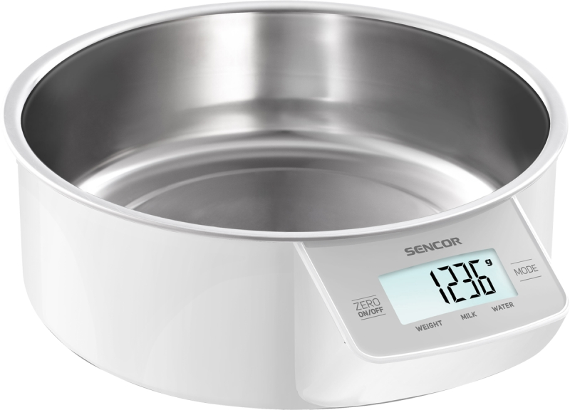 Digitální kuchyňská váha Sencor SKS 4030WH - bílá