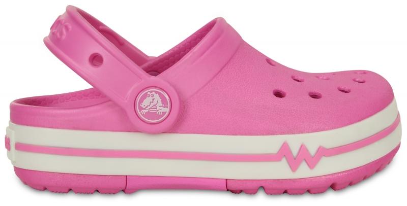 Crocs Lights Clog Party Pink/White, J3 (34-35)