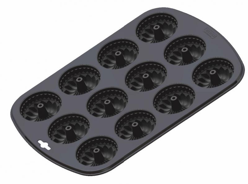Kaiser forma na 12 muffinů ve tvaru bábovky
