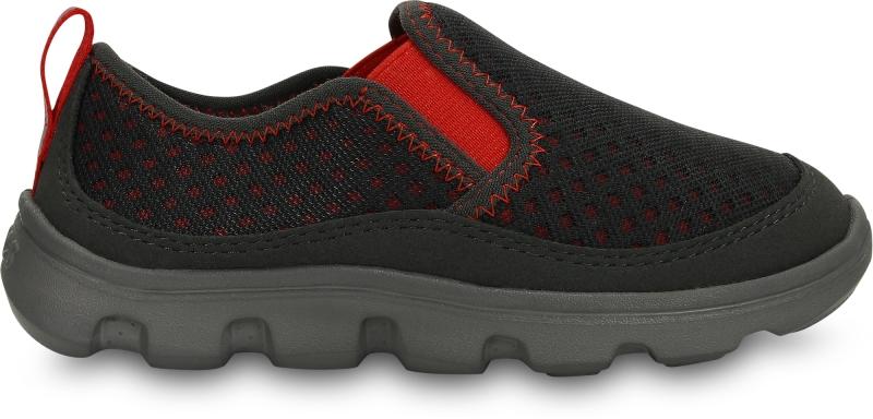 Crocs Duet Sport Slip-on Kids - Graphite/Flame, C11 (28-29)