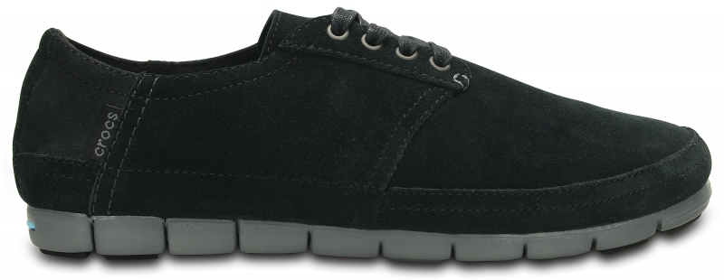 Crocs Men's Stretch Sole Desert Shoe - Black/Charcoal, M10/W12 (43-44)